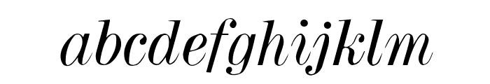 Dubiel Italic Font LOWERCASE