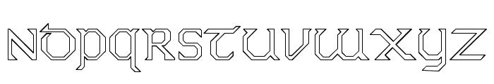 Dublin Hollow Font UPPERCASE