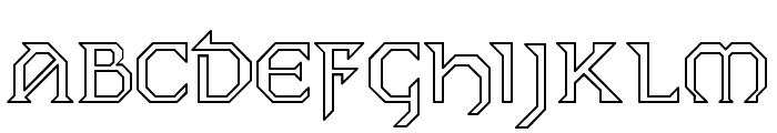 Dublin Hollow Font LOWERCASE