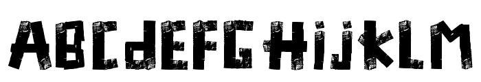Duck Tape Font UPPERCASE