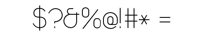 Duepuntozero ExtraLight Font OTHER CHARS