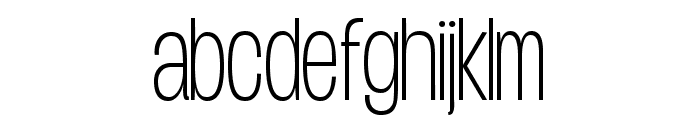 Duera PERSONAL USE Condensed Thin Font LOWERCASE