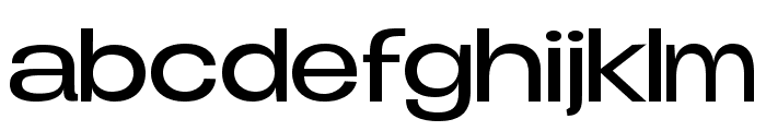 Duera PERSONAL USE Expanded Light Font LOWERCASE