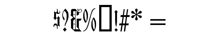 Duerer Gotisch Font OTHER CHARS