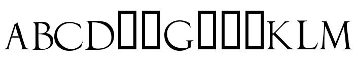 DuererLatinCapitals Font LOWERCASE