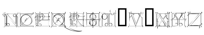 DuererLatinConstructionCapitals Font UPPERCASE