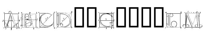 DuererLatinConstructionCapitals Font LOWERCASE