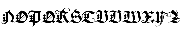 DuerersMinuskeln Font UPPERCASE