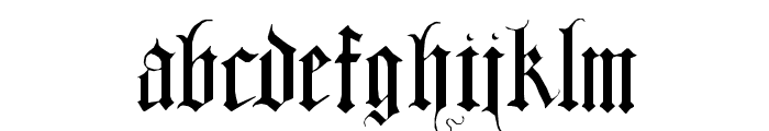DuerersMinuskeln Font LOWERCASE