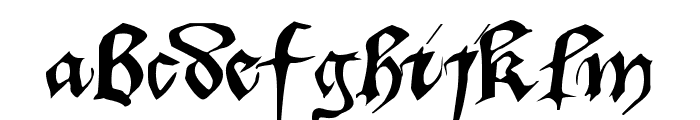 Dufay Font LOWERCASE