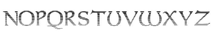 Dumbledor 2 Cut Up Font UPPERCASE