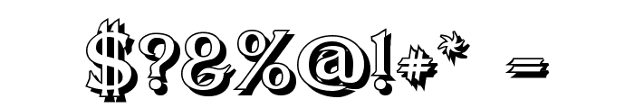 Dumbledor 2 Shadow Font OTHER CHARS