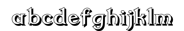 Dumbledor 2 Shadow Font LOWERCASE