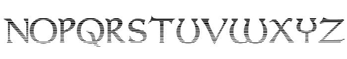 Dumbledor 3 Cut Up Font UPPERCASE