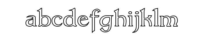 Dumbledor 3 Outline Font LOWERCASE