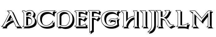 Dumbledor 3 Shadow Font UPPERCASE