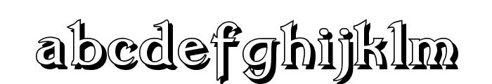 Dumbledor 3 Shadow Font LOWERCASE