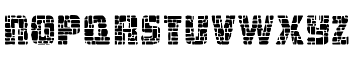 Dungeon Blocks Filled Font UPPERCASE