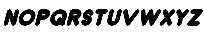 Dunkin Bold Italic Font UPPERCASE