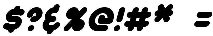 Dunkin Italic Font OTHER CHARS