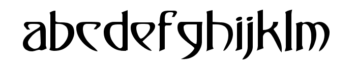 Dunstall Font LOWERCASE