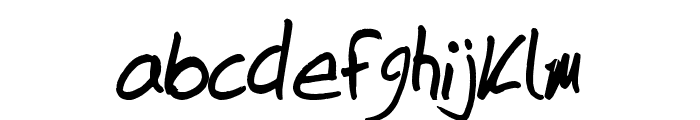 DuntonWriting Font LOWERCASE