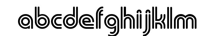 Duo-Line Regular Font LOWERCASE