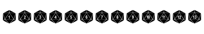 Duodecahedron Font UPPERCASE