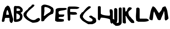 Durchgeknallt Font LOWERCASE