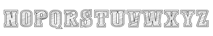 Dust West College Font UPPERCASE