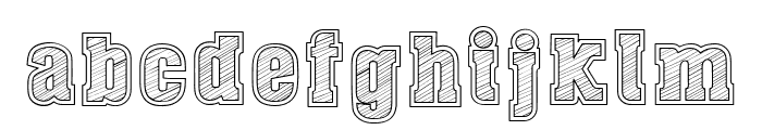 Dust West College Font LOWERCASE