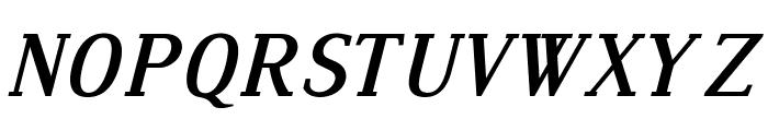 Dustismo Roman Bold Italic Font UPPERCASE