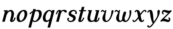 Dustismo Roman Bold Italic Font LOWERCASE
