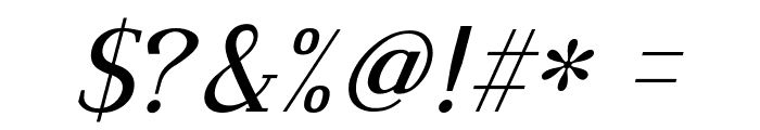 Dustismo Roman Italic Font OTHER CHARS