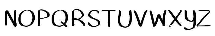 DustyErasers Font UPPERCASE