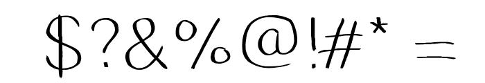DustyErasersLight Font OTHER CHARS