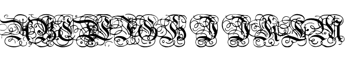 Dutch Initials Normal Font UPPERCASE