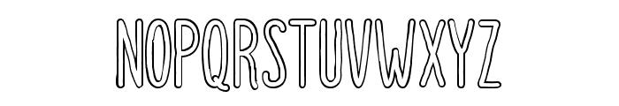 Dutchy Free Outline Font UPPERCASE