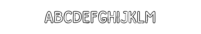 Dutchy Free Outline Font LOWERCASE