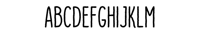 Dutchy Free Rough Font UPPERCASE