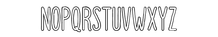 DutchyFree-Outline Font UPPERCASE
