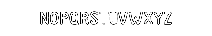DutchyFree-Outline Font LOWERCASE