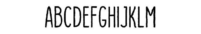DutchyFree-Rough Font UPPERCASE
