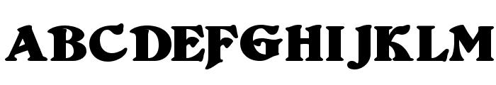 Duvall Bold Font UPPERCASE