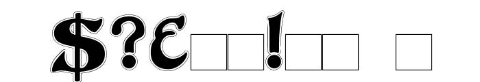 DuvallSmallCapsOutline Font OTHER CHARS