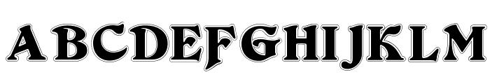 DuvallSmallCapsOutline Font LOWERCASE