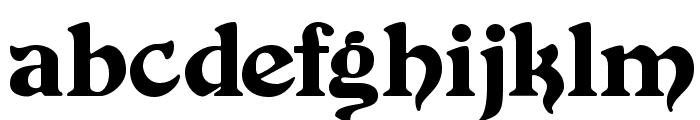 Duvall Font LOWERCASE