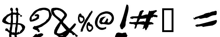 dugfont Bold Font OTHER CHARS