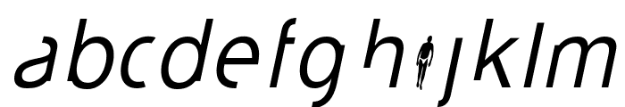 durselinvenice-Italic Font LOWERCASE