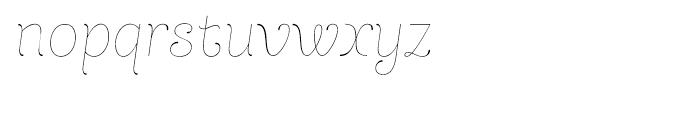 Dulce Pro Essential Italic Font LOWERCASE